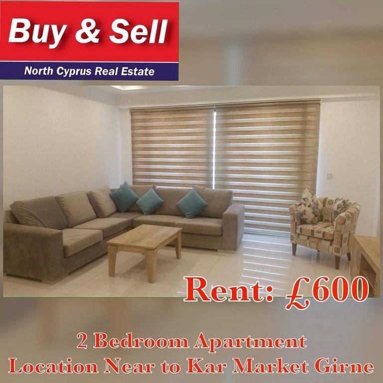 2 Bedroom Apartment For Rent Near To Kar Market Girne